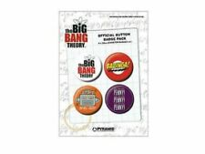 New Big Bang Theory Official Pin Badges Bazinga Shel-Bot TBBT and Penny!