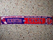 sciarpa FIORENTINA - OLYMPIQUE LYONNAIS champions league 2010 club calcio scarf