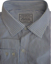 Charles Tyrwhitt Camisa Para Hombres 16 M azul y blanco de rayas