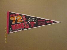 NBA Chicago Bulls Vintage 1995-96 72 WINS Logo Pennant