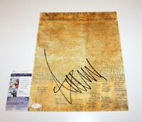 DONALD TRUMP FOR PRESIDENT SIGNED DECLARATION OF INDEPENDENCE 11X14 PHOTO W/COA