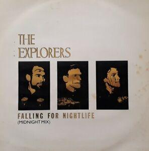 "The Explorers-Falling For Nightlife/Crack The Whip 12"" Single.Virgin VS 71512."