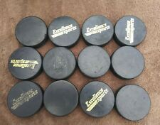 12 Hockey Pucks Vegum Official Made In Slovaka Used