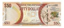 50 Dollars Guyana UNC Commemorative banknote,ND(2016), Prefix AA