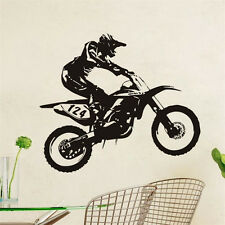 Motor-Racing Art Vinyl Wall Sticker Dirt Bike Mural House Decor Removable Decal