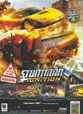 "Stuntman Ignition ""Coming August"" 2007 Magazine Advert #4908"