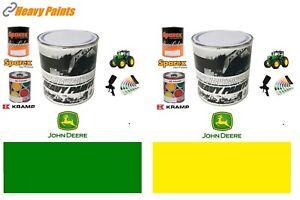 John Deere Tractor Green & Yellow Paint Endurance Enamel Paint 1 Litre Tins