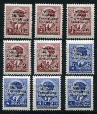 GERMANY 3rd REICH OCCUPATION WW2 MONTENEGRO SCOTT 3N1-3N9 MNH PLEASE READ
