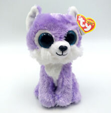 "6"" TY Beanie Boo Iris Great Wolf Lodge Exclusive Glitter Eyes Plush Toy With Tag"