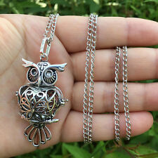 Vintage Oil Aromatherapy Diffuser Locket Necklace Perfume Fragrance Essential FL