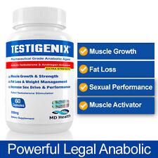 Testigenix-LEGALE MUSCLE supplemento Crescita Muscolare No Steroidi Testosterone o