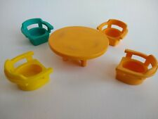 Vintage Fisher Price Little People Play Family House Furniture Lot