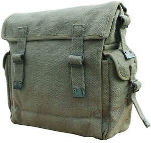 Mens Ladies Shoulder Messenger Military Vintage Bag Army Haversack Retro Satchel