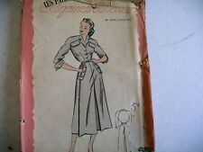 vintage LES PATRONS DE MARIE CLAIRE robe chemisier n° 4201 ans 50
