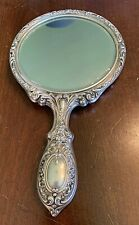 Vintage Gorham # 23 Sterling Silver Hand Mirror - Art Nouveau REPOUSSE-Very Nice