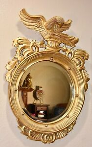 Federal Convex Carved and Gilded Eagle Bullseye Mirror