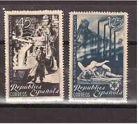 EDIFIL 773/4 HOMENAJE A LOS OBREROS DE SAGUNTO AÑO 1938 SPAGNE