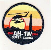 USMC PATCH MARINE CORPS AH-1W SUPER COBRA 1986-2020 PATCH STICKER