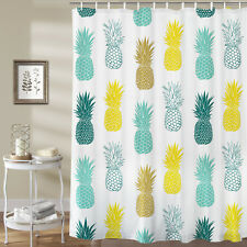 Waterproof Fabric Hooks Bathroom Shower Curtain Pineapple Fruit Bathroom Decor