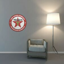 Texaco Wall Art Sticker Lounge Bedroom Garage Workshop Retro Vintage Vinyl