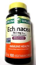 Spring Valley Echinacea 100 Ct 380Mg Capsules Pills Immune Health Non GMO