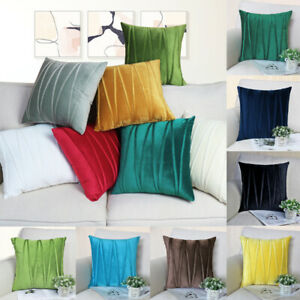 13 Color Soft Modern Smooth Thick Polyester Deco Cushion Cover Throw Pillow Case