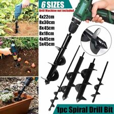 Auger Spiral Hole Garden Planting Drill Bit Small Earth Planter Post Hole Digger