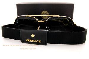 Brand New VERSACE Sunglasses VE 2232 1438/87 Black/Dark Grey For Women
