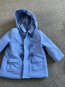 Tutto Piccolo boys blue duffle coat age 24 month 2 years