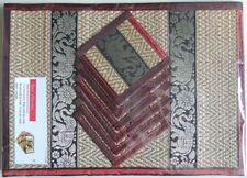REED PLACEMATS WITH COASTERS | 6-Pack | Burgundy