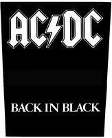 "AC/DC RÜCKENAUFNÄHER / BACKPATCH # 2 ""BACK IN BLACK"""