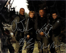 STARGATE CAST SIGNED 8X10 PHOTO RP AMANDA TAPPING BEAU BRIDGES