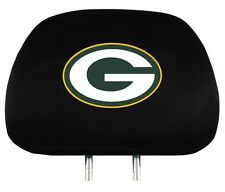 Green Bay Packers Auto Head Rest Covers 2 Pack [NEW] NFL Car Seat Headrest CDG