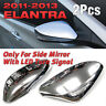 For HYUNDAI 2011 - 2016 ELANTRA LED signal only Side Mirror Chrome Molding