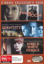 PANIC ROOM / IDENTITY / SINGLE WHITE FEMALE (3 DVD) R4 Collection ***
