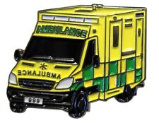Paramedic Ambulance 999 First Aid Metal Enamel 25mm Emergency Service Badge NEW