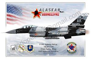 F-16 18th Aggressor Squadron - Poster Profile