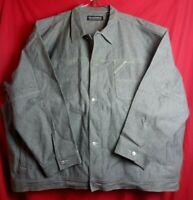 Pelle Pelle Marc Buchanan Men 5XL Grey Denim Jean Button Jacket