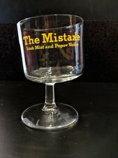 """The Mistake"" Irish Mist & Popov Vodka Drinking Glasses Quirky Funny Barware SIX"