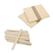 200 pieces Popsicle Sticks Wood Craft Sticks Ice Cream DIY 9.3x1x0.2