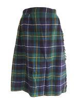 "Vintage THE SCOTCH HOUSE Women's Green Mix Tartan Wool Kilt Skirt. W24"" × L27""."