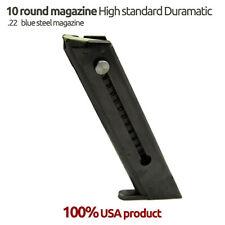 High Standard late model .22 LR 10 Round Blue Steel Magazine