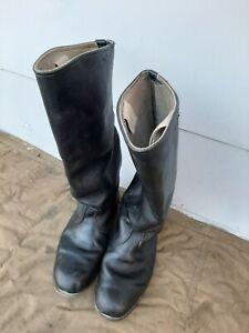 Soviet russian calfskin officer army boots size 41 C medium (262)