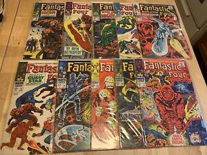 Fantastic Four Silver Age Lot 68 69 70 71 72 73 74 75 76 77 SURFER GALACTUS