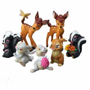 7 stücke set Bambi Klopfer Blume BAMBI KANINCHEN Figur Spielzeug Kuchen topper