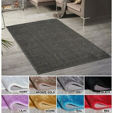 Paris Small-Large Living Room Sparkle Plain Shaggy Shimmer Area Rugs