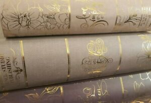 NEW PUNCH STUDIO PUBLISHING (3) Decorative Nesting Book Boxes w/Gold Foil