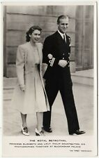 A ROYAL BETROTHAL - Queen & Prince Philip - Raphael Tuck Real Photo - c1940s era