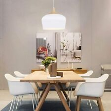 60 W Pendant Light White Round metal lampshade Wood Pattern Ceiling Lamp Corded