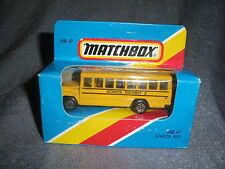 292B Vintage Matchbox 1981 MB 47 Bus School Bus School District 2 USA 1:76